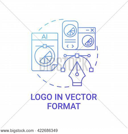 Logo In Vector Format Concept Icon. Business Brand Service Abstract Idea Thin Line Illustration. Wit