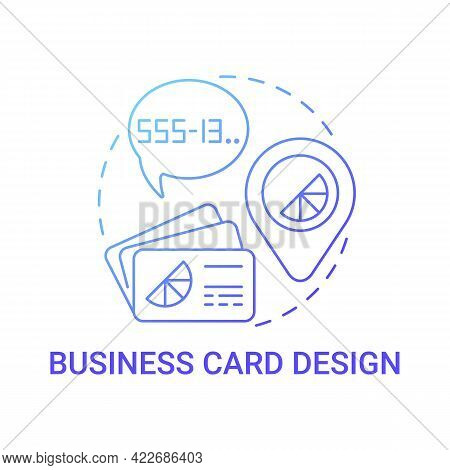 Business Card Design Concept Icon. Branding Service Abstract Idea Thin Line Illustration. Conveying