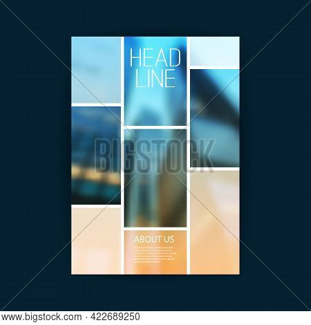 Modern Style Flyer Or Cover Design For Your Business With Blurred Urban Theme - Applicable For Busin