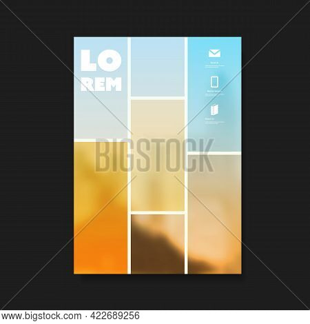 Modern Style Flyer Or Cover Design For Your Business With Blurred Abstract Background - Applicable F