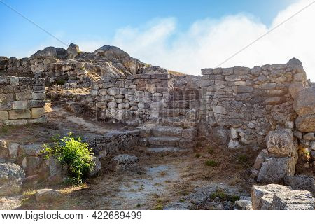 Ruins Of Ancient Buildings In Panticapaeum. There Are Remains Of Walls & Stairs. City Was Founded By