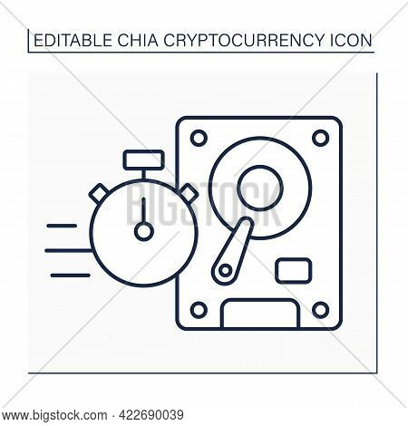 Faster Plotting Line Icon.more Concurrent Plots. Temporary Space. Digital Money Concept.isolated Vec