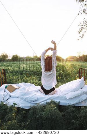 Bed In A Green Field