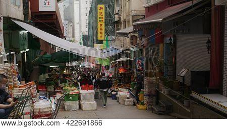 Central, Hong Kong 09 February 2021: Lyndhurst Terrace in Hong Kong