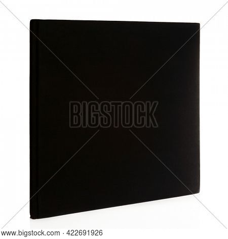 Square black book isolated on white background