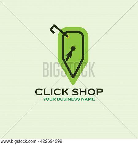 Click Shop Design Logo Business. Click Shop Logo Vector