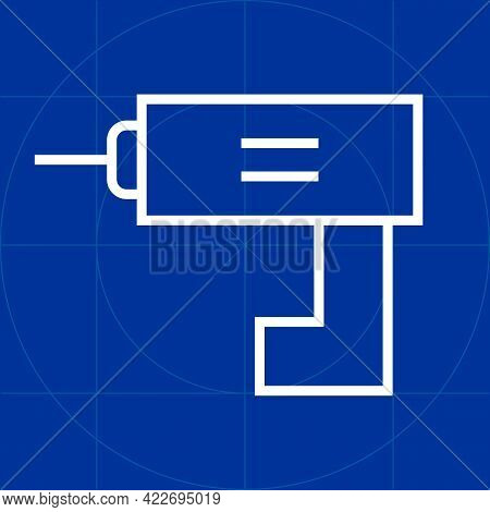 Pistol Grip Electric Hand Drill Simple Stiff Outline Line Icon