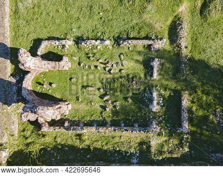 Aerial View Of Elenska Basilica -ruins Of Early Byzantine Christian Church Near Town Of Pirdop, Sofi