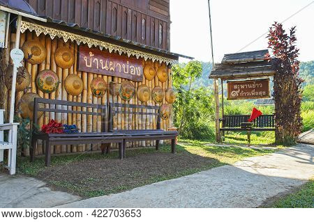 Mae Hong Son, Thailand - December 15, 2020: Beautiful Scenery In The Famous Travel Destinations Of M