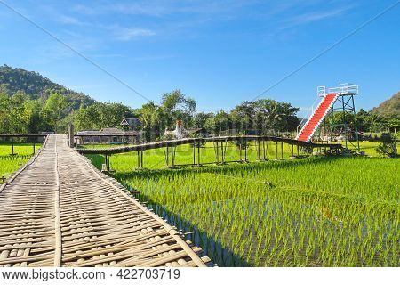 The Famous Travel Destinations Of Mae Hong Son Pha Bong Village In Local Thai Name Is Sapankhao Kao