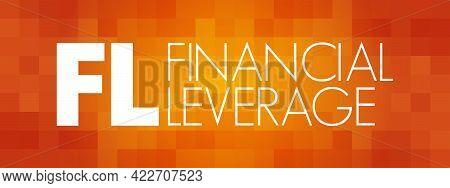 Fl - Financial Leverage Acronym, Business Concept Background