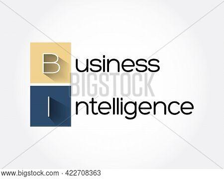 Bi - Business Intelligence Acronym, Business Concept Background