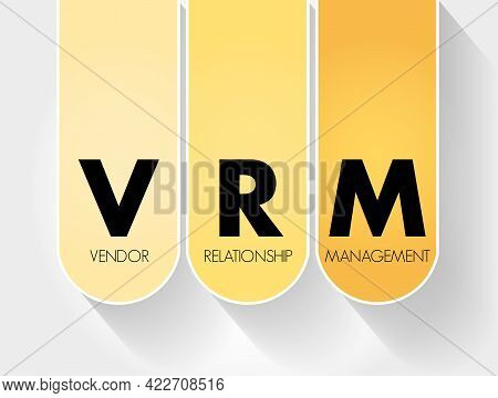 Vrm - Vendor Relationship Management Acronym, Business Concept Background
