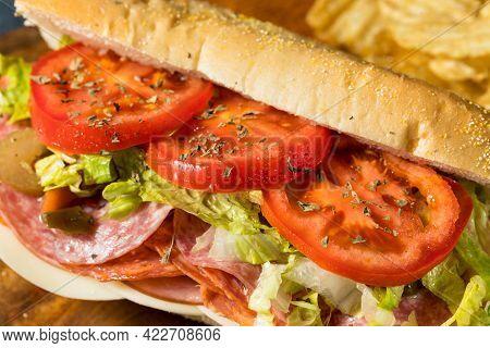 Homemade Cold Cut Italian Sub Sandwich