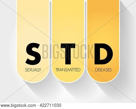 Std - Sexually Transmitted Diseases Acronym, Medical Concept Background