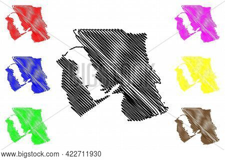 Davis County, State Of Utah (u.s. County, United States Of America, Usa, U.s., Us) Map Vector Illust