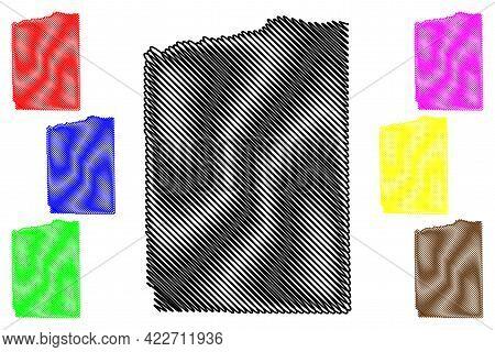 Duchesne County, State Of Utah (u.s. County, United States Of America, Usa, U.s., Us) Map Vector Ill