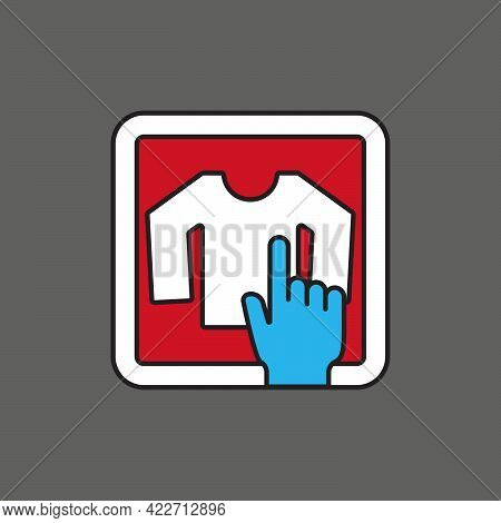 Long Sleeve Tshirt Or Tee Store Touch Shopping On Mobile. Icon For App, Website, Or Advertising