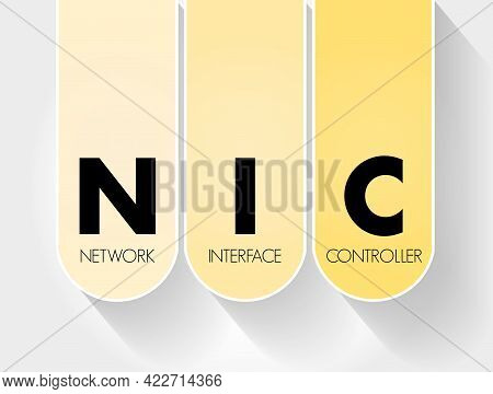 Nic - Network Interface Controller Acronym, Technology Concept Background