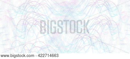 Blue, Magenta Squiggle Subtle Lines. Wavy Tangled, Ripple Curves. Abstract Vector Background. Textur