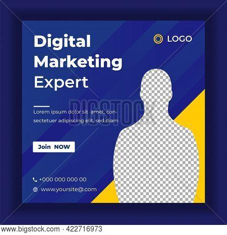 Digital Marketing Social Media Post Banner Template, Social Media Post Banner Design Template. Digit