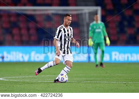 Bologna, Italy. 23th May 2021 . Arthur Of Juventus Fc  During The Serie A Match Between Bologna Fc A