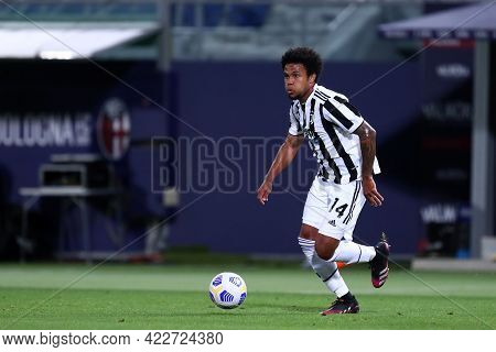 Bologna, Italy. 23th May 2021 . Weston Mckennie Of Juventus Fc  During The Serie A Match Between Bol