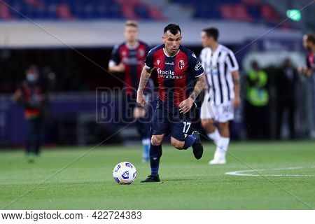 Bologna, Italy. 23th May 2021 . Gary Medel Of Bologna Fc  During The Serie A Match Between Bologna F