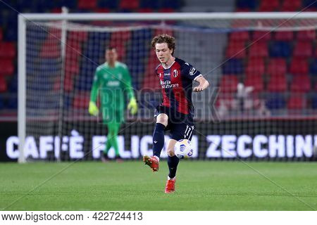 Bologna, Italy. 23th May 2021 . Andreas Skov Olsen Of Bologna Fc  During The Serie A Match Between B