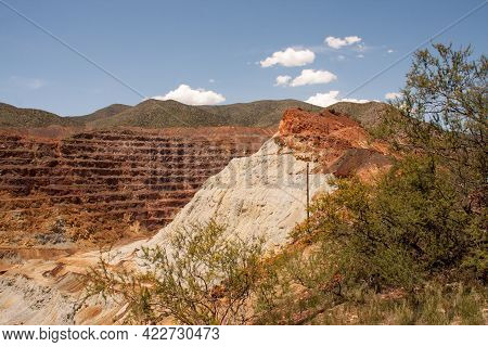 Abandon Cooper Mine In Bisbee, Arizona Known As The Lavender Pit