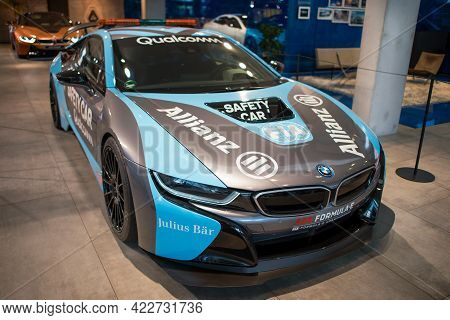 Munich, Germany - September 14, 2018: A Bmw Formula E Legendary Car In The Bmw Museum.