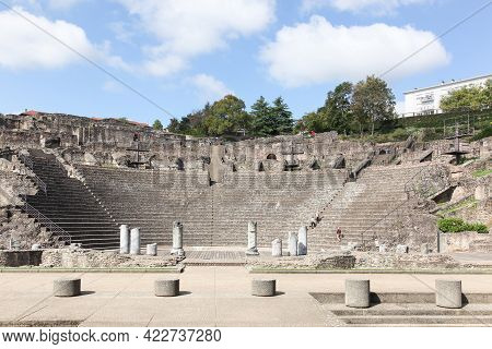 Ancient Roman Theater Of Fourviere In Lyon, France