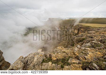 Panoramic View Of The Bermamyt Plateau In The Karachay-cherkessia Republic, Russia