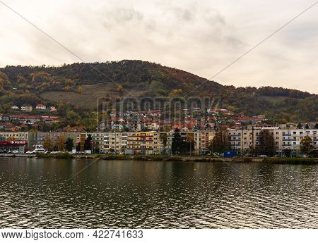View Of Danube River And Orsova City, Waterfront View. Orsova, Romania, 2020
