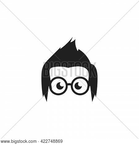 Geek Boy Icon Vector Illustration Design