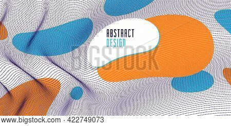 Trendy Abstract Vector Background, Science And Technology Theme Illustration, Array Of Dynamic Parti