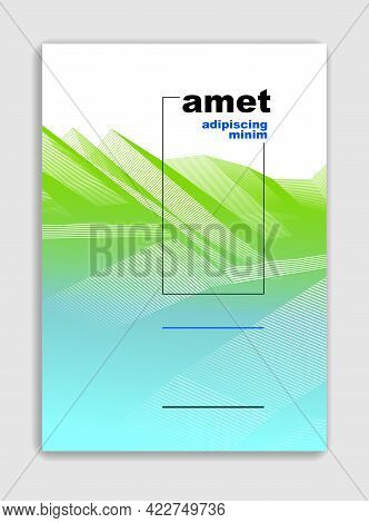 Abstract Lines Vector Minimal Modern Brochure Design, Cover Template, Geometric Halftone Gradient. F