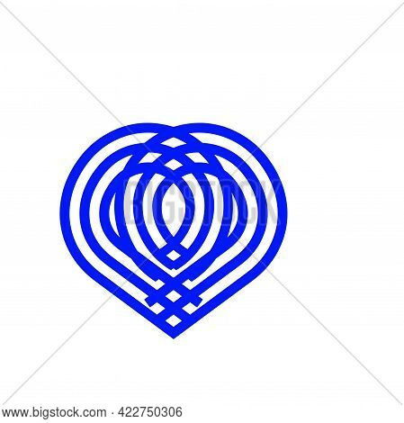 Pq, Pp Initial Geometric Line Art Love Shape Logo And Vector Icon