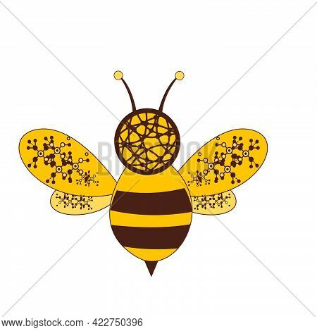 Digital Network Bee Logo And Vector Icon