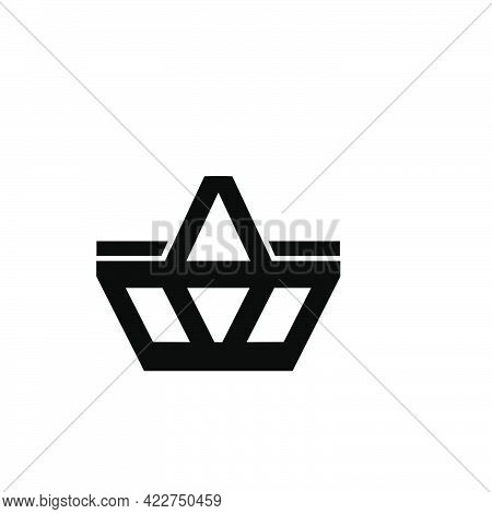 Simple E-commerce Cart Or Basket Logo And Vector Icon