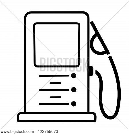 Gas Station Vector Icon. Isolated Illustration On A White Background. Refueling Symbol. Hand-drawn S