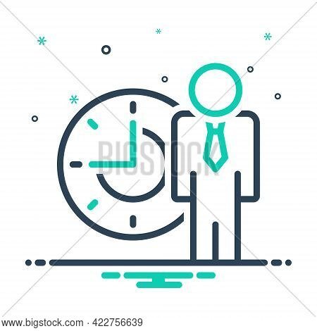 Mix Icon For People-time Management Delay Schedule Patience Waiting