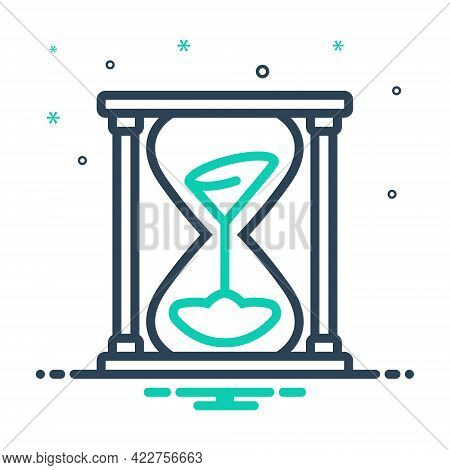 Mix Icon For Sands-of-time Sands  Timer Antique Hour-glass Measure Pending Countdown Running