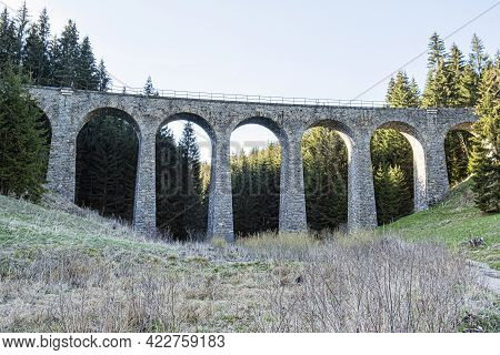 Chmarossky Viaduct On One Of The Most Beautiful Railway Lines In Slovakia Cervena Skala - Margecany.