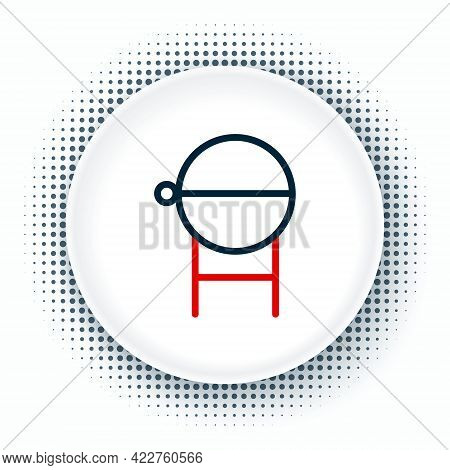 Line Barbecue Grill Icon Isolated On White Background. Bbq Grill Party. Colorful Outline Concept. Ve