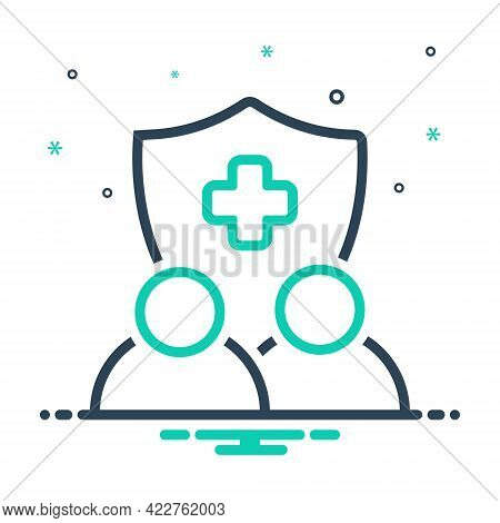 Mix Icon For Insurance Guarantee Warranty Reinsurance Assurance Security Shield Protection Medical H