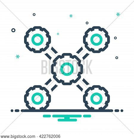 Mix Icon For Organization Management Structure Users Community Structuring Standardiza Concept Conne