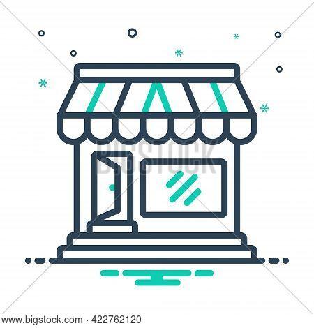 Mix Icon For Market-store Market Store Merchandise Vend Stock Boutique Commercial Supermarket Grocer