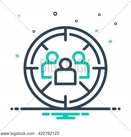 Mix Icon For Market-target Market Target Destination Target-audience Focus Optimization User