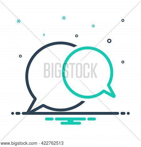 Mix Icon For Speech-bubble Talk Oration Harangue Recitative Speak Chat Gossip Communication Message